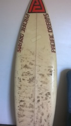 1980s thruster surfboard