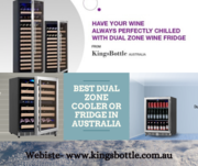 2-Zone Under Bench Wine Fridge Australia | KingsBottle