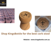Giant champagne cork stool | KingsBottle